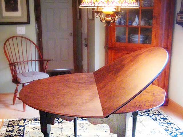 Circular card table extender pad photo