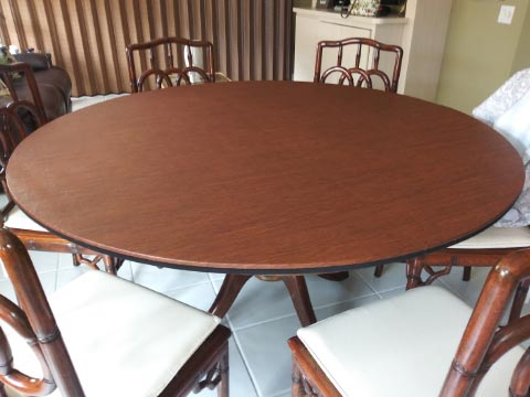 Large round table extension pad photo