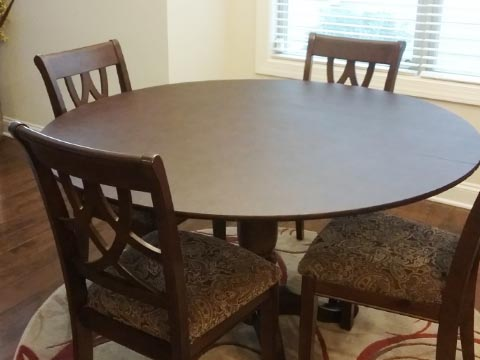 Photo: 42 inch table expanded to 54 inches