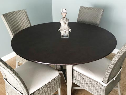 Round card table extender pad photo