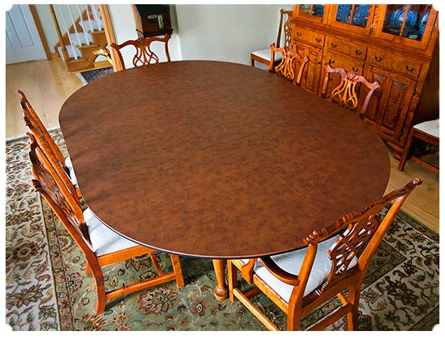 Custom Table Pads For Dining Room Tables dining room custom table pads for dining room tables table pads Slideshow Custom Table Extender Pad To Add Seating